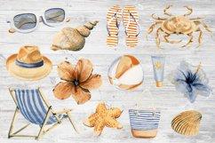 Watercolor Beach Set Clip Art Product Image 6