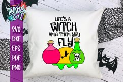 Life's A Witch And Then You Fly Funny Halloween svg Product Image 1