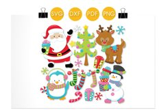 Winter Friends cutting files svg, dxf, pdf, eps included - cut files for cricut and silhouette - Cutting Files SG Product Image 2