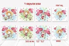 Skinny tumbler Png. Valentine's day design. Skinny tumbler Product Image 2