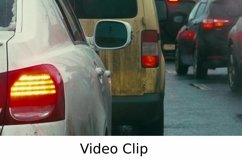 Video: Bumper-to-bumper traffic on dull day Product Image 1