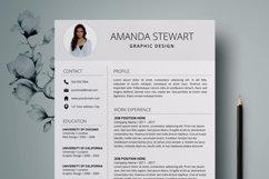 Resume Template | CV Cover Letter - Amanda Stewart Product Image 2