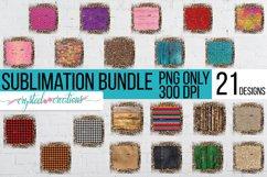 Sublimation Brick Wood Glitter Leopard Bundle Sublimation Product Image 1