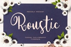 Roustic - Casual Calligraphy Typeface Product Image 1