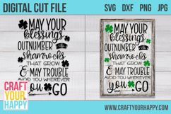 May Your Blessings Outnumber The Shamrocks - Irish Cut File Product Image 2
