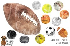 Sports Watercolor Clipart Product Image 1