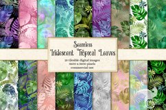 Iridescent Tropical Leaf Patterns Product Image 1