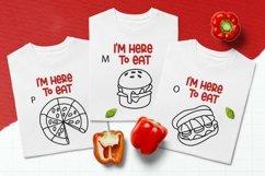 Web Font Food Dingbats Font Product Image 3