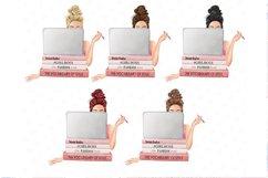 Planner girl clipart, girlboss Businesswoman blogger Product Image 2