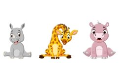 Set of Nine Cartoon Baby Animal Bundle Product Image 2