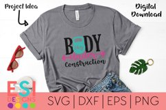 Funny Gym SVG | Body - Under Construction| SVG DXF EPS PNG Product Image 1
