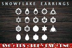 Christmas earrings SVG, Snowflake Earrings Product Image 3
