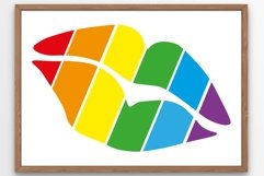 Pride lips SVG Multicolored lips SVG Rainbow 1 Product Image 1