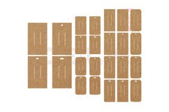 24 Templates Rectangle Hair Bow Display Card | BDC036 Product Image 1