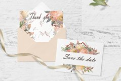 Autumn floral borders Watercolor Product Image 3