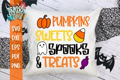Pumpkins Sweets Spooks and Treats Halloween SVG Cut File Product Image 1