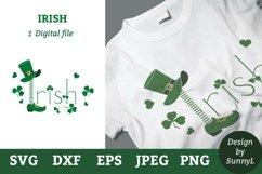 Irish St.Patricks day svg. Leprechaun hat, shoe, shamrock. Product Image 1