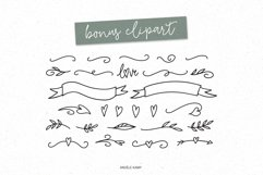 Tilly, a lovely, whimsical, wedding font with bonus clipart Product Image 6