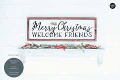 COLD SNOWFALL a Farmhouse Christmas Script Product Image 2