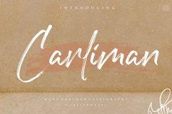 Carliman Handbrushed Calligraphy Font Product Image 1