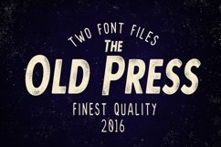 Web Font Old Press Two Styles Product Image 1