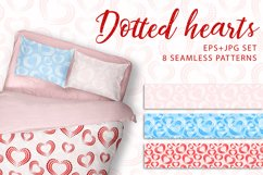 Dotted hearts. JPG, EPS. Product Image 1
