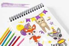 Woodland Birthday Graphics and illustrations, vecto Product Image 2