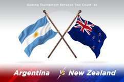 Argentina vs New Zealand Two Flags Product Image 1
