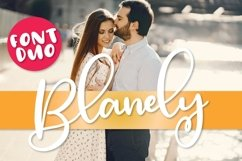 Blanely - A Script & Print Font Duo - Font Pair Product Image 1