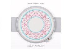 Fleur de Lis Round Monogram Font Frame Product Image 1