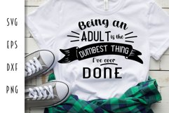 Being an Adult - Funny Adulting Cut File Product Image 3