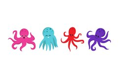 Cute Octopus Illustrations Product Image 1