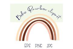Boho rainbow clipart |Rainbow PNG |Rainbow sticker Product Image 1