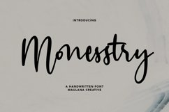 Monesstry Handwritten Script Product Image 1