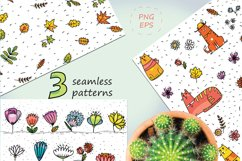 Autumn Cats - clip-art collection, patterns, frames Product Image 6