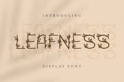 Leafness Font Product Image 1
