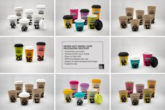 Paper Hot Drink Cups Packaging Mockup Product Image 6