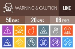 50 Warning & Caution Line Multicolor B/G Icons Product Image 1