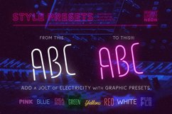 Night Light Neon Font - Compressed Product Image 3