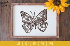 Butterfly Mandala Zentangle Bundle Set of 7 - SVG Product Image 2
