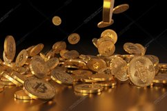 5  files - 3D rendering Bitcoins falling on a pile Product Image 3