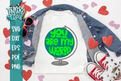 You Are My World / Valentine SVG / Cut file Product Image 1