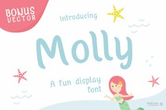 Molly - Mermaid Display font Product Image 1