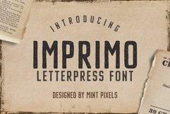 Imprimo Letterpress Font Product Image 1