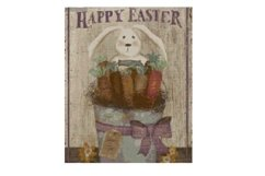 """Primitive """"Happy Easter"""" Cross Stitch Pattern Product Image 1"""