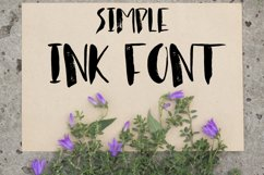 Simple ink font Product Image 2