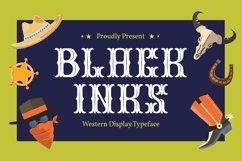 Black Inks - Western Display Typeface Product Image 1
