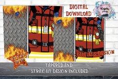20oz| Yellow| Red Firemen Split| Sublimation Tumbler Wrap| Product Image 3