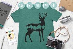 Deer svg, mountain deer clipart, mountain, adventure explore Product Image 3