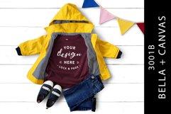 Kids Heather Maroon Bella Canvas 3001B T-Shirt Mockup Product Image 1